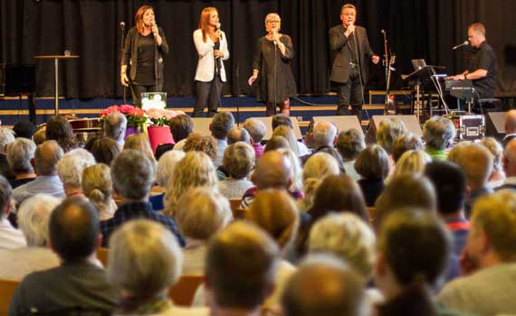 Worship in Bethel church in Trondheim, Norway