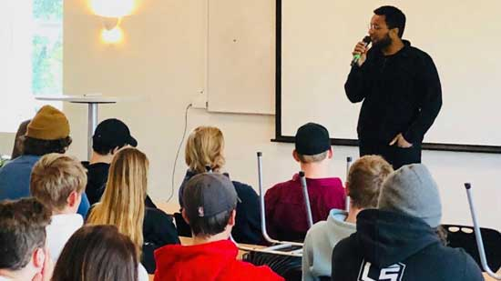 Sharing the Gospel to high school students