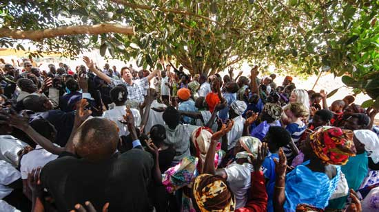 Worship at the mission field in Uganda